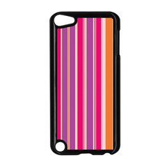Stripes Colorful Background Pattern Apple iPod Touch 5 Case (Black)