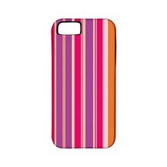 Stripes Colorful Background Pattern Apple Iphone 5 Classic Hardshell Case (pc+silicone)
