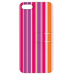 Stripes Colorful Background Pattern Apple Iphone 5 Hardshell Case With Stand