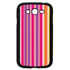 Stripes Colorful Background Pattern Samsung Galaxy Grand Duos I9082 Case (black)