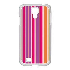 Stripes Colorful Background Pattern Samsung GALAXY S4 I9500/ I9505 Case (White)