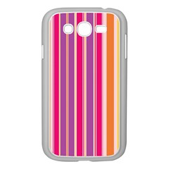 Stripes Colorful Background Pattern Samsung Galaxy Grand DUOS I9082 Case (White)