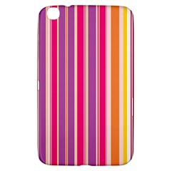 Stripes Colorful Background Pattern Samsung Galaxy Tab 3 (8 ) T3100 Hardshell Case