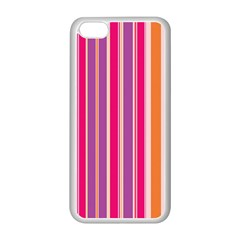 Stripes Colorful Background Pattern Apple iPhone 5C Seamless Case (White)