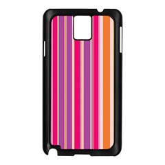 Stripes Colorful Background Pattern Samsung Galaxy Note 3 N9005 Case (Black)