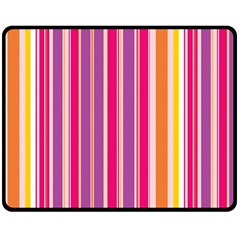Stripes Colorful Background Pattern Double Sided Fleece Blanket (medium)