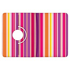 Stripes Colorful Background Pattern Kindle Fire Hdx Flip 360 Case