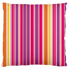 Stripes Colorful Background Pattern Large Flano Cushion Case (two Sides)