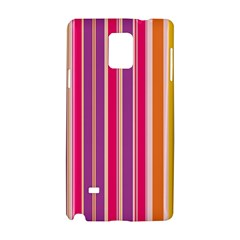 Stripes Colorful Background Pattern Samsung Galaxy Note 4 Hardshell Case