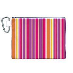 Stripes Colorful Background Pattern Canvas Cosmetic Bag (XL)