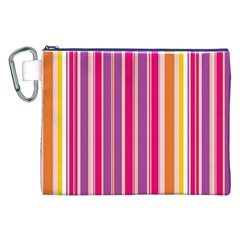 Stripes Colorful Background Pattern Canvas Cosmetic Bag (xxl)