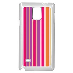 Stripes Colorful Background Pattern Samsung Galaxy Note 4 Case (white)