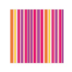 Stripes Colorful Background Pattern Small Satin Scarf (square)