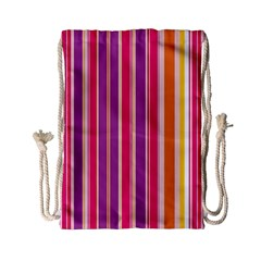 Stripes Colorful Background Pattern Drawstring Bag (Small)