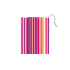 Stripes Colorful Background Pattern Drawstring Pouches (XS)