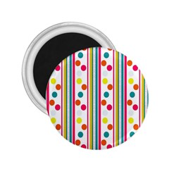 Stripes Polka Dots Pattern 2 25  Magnets