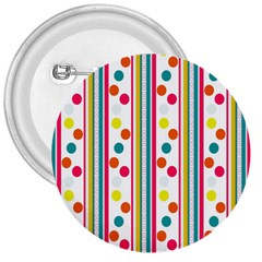 Stripes Polka Dots Pattern 3  Buttons
