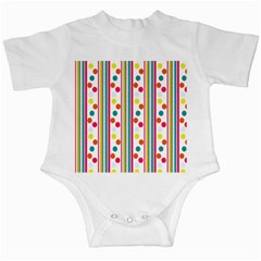 Stripes Polka Dots Pattern Infant Creepers