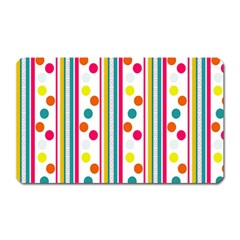 Stripes Polka Dots Pattern Magnet (Rectangular)