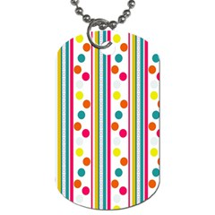 Stripes Polka Dots Pattern Dog Tag (two Sides)
