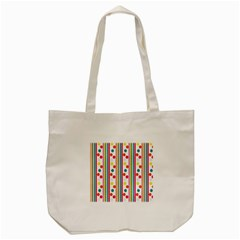 Stripes Polka Dots Pattern Tote Bag (Cream)