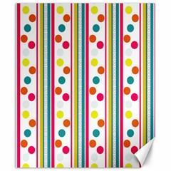 Stripes Polka Dots Pattern Canvas 20  X 24