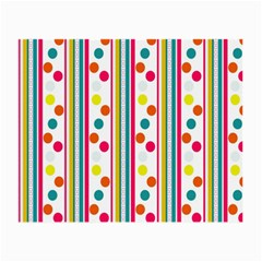 Stripes Polka Dots Pattern Small Glasses Cloth (2-Side)