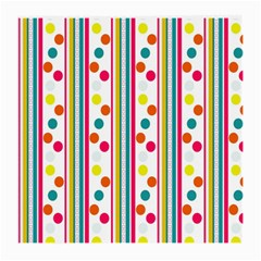 Stripes Polka Dots Pattern Medium Glasses Cloth (2-Side)