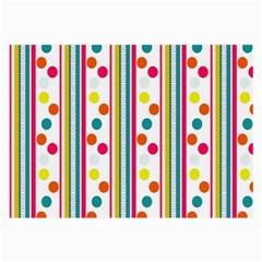 Stripes Polka Dots Pattern Large Glasses Cloth (2 Side)