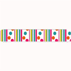 Stripes Polka Dots Pattern Small Bar Mats