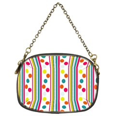 Stripes Polka Dots Pattern Chain Purses (Two Sides)