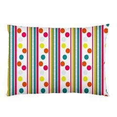 Stripes Polka Dots Pattern Pillow Case