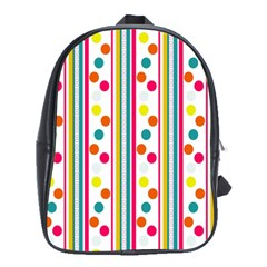 Stripes Polka Dots Pattern School Bags(large)