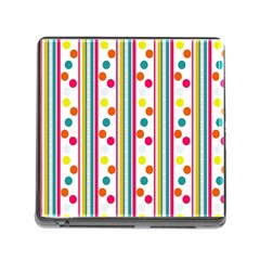 Stripes Polka Dots Pattern Memory Card Reader (Square)