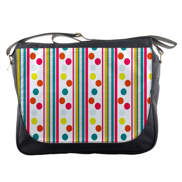 Stripes Polka Dots Pattern Messenger Bags