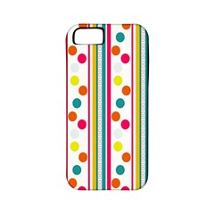 Stripes Polka Dots Pattern Apple iPhone 5 Classic Hardshell Case (PC+Silicone)