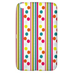 Stripes Polka Dots Pattern Samsung Galaxy Tab 3 (8 ) T3100 Hardshell Case