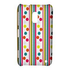 Stripes Polka Dots Pattern Nokia Lumia 620