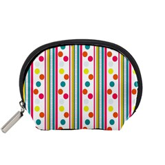 Stripes Polka Dots Pattern Accessory Pouches (small)