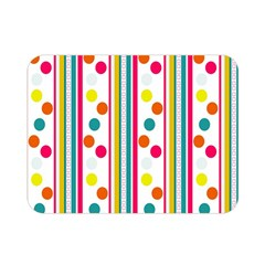 Stripes Polka Dots Pattern Double Sided Flano Blanket (Mini)