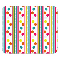 Stripes Polka Dots Pattern Double Sided Flano Blanket (small)
