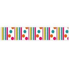 Stripes Polka Dots Pattern Flano Scarf (Large)