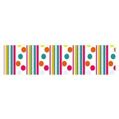 Stripes Polka Dots Pattern Satin Scarf (Oblong)