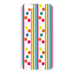 Stripes Polka Dots Pattern Apple Seamless iPhone 6 Plus/6S Plus Case (Transparent)