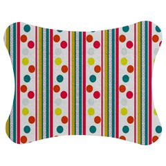 Stripes Polka Dots Pattern Jigsaw Puzzle Photo Stand (bow)
