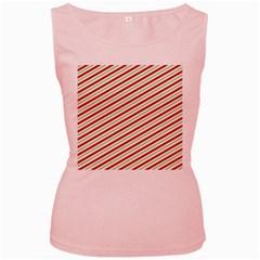 Stripes Striped Design Pattern Women s Pink Tank Top