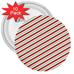 Stripes Striped Design Pattern 3  Buttons (10 pack)