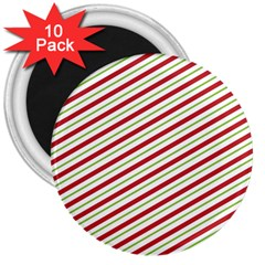 Stripes Striped Design Pattern 3  Magnets (10 pack)