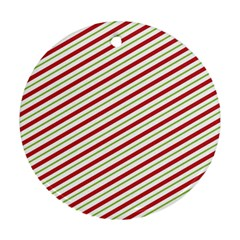 Stripes Striped Design Pattern Round Ornament (Two Sides)