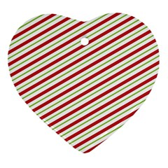 Stripes Striped Design Pattern Heart Ornament (two Sides)
